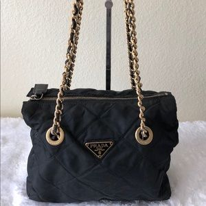 Prada Bags - Authentic Prada Gold Chain Shoulder Bag